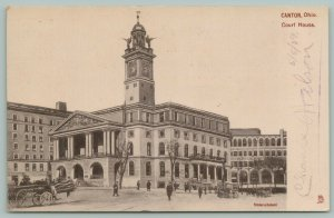 Canton OH TUCK Trumpeters of Justice Atop Stark Co Courthouse~Dressed Horse~1906