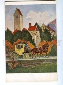 176590 HORSE Cart ALLGAU by HOESS Vintage JUGEND Postcard