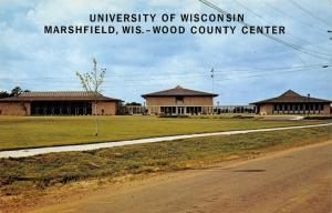 Marshfield~University of Wisconsin~Wood County Center~Dirt Road~1960s Postcard