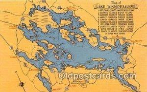 Lake Winnipesaukee, NH USA 1946 postal marking on front