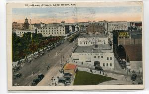 Ocean Avenue Long Beach California 1926 postcard