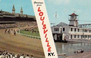 LOUISVILLE, Kentucky, Left:KENTUCKY DERBY, CHURCHILL DOWNS, Right: U.S. COAST...