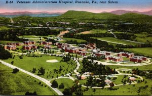 Virginia Roanoke Aerial View Veterans Administration Hospital