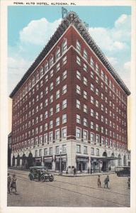 ALTOONA, Pennsylvania, 1900-1910's; Pennsylvania Alto Hotel, Classic Cars