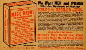 Advertising - Mitchell's Magic Marvel Cleaning Compound, Recruiting Effort