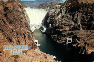 Hoover Dam Nevada NV 1995 Colorado River Arizona AZ Postcard