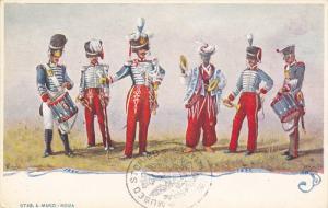 Italian Troop Uniforms , 1820-1833 , Stab. A. Marzi - Roma , Italy , 1890s
