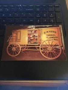 Vintage Postcard: 1870 Peddler's Wagon, Pioneer Village on US 6