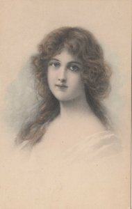 M.M.VIENNE : Female Head Portrait , 1906
