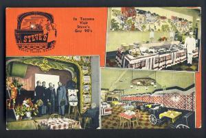 Tacoma, Washington/WA Postcard, Sreve's Gay 90's Smorgasbord