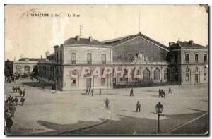 Old Postcard Saint Nazaire train station