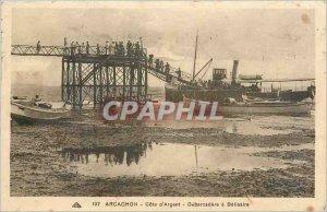 Old Postcard Arcachon Cote d'Argent has Debarcadere Belisaire Boat