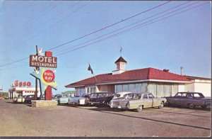 Laurier Station QUE Canada MOTEL PHILRAY and RESTAURANT  RT 9, 1960s