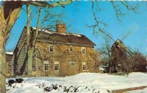 East Hampton Long Island NY~John Howard Payne Home Sweet Home in Winter~50s Pc