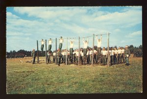Fort Dix, New Jersey/NJ Postcard, Recruits At Basic Training Exercise