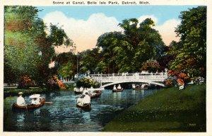 MI - Detroit. Belle Isle Park, Canal Scene