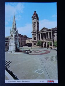 West Midlands BIRMINGHAM Chamberlain Square c1970's Postcard