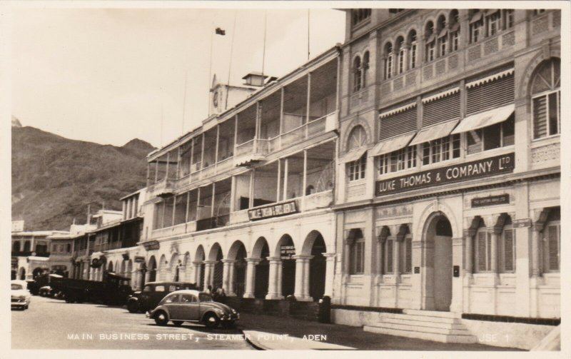 Aden Steamer Point Main Business Street Real Photo sk1970a