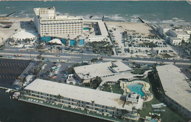 Aerial View, Diplomat Hotel, Swimming Pool, HOLLYWOOD, Florida, 40-60's