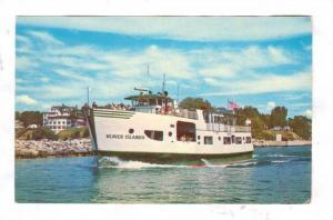 The New Motor Ship, Beaver Islander, Michigan, 40-60s