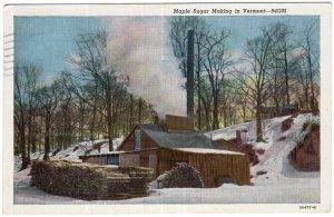 Maple Sugar Making In Vermont