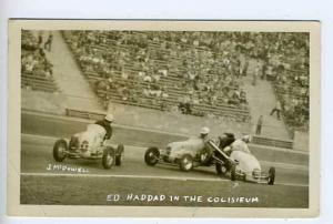 Los Angeles CA Ed Haddad Race Car RPPC Postcard