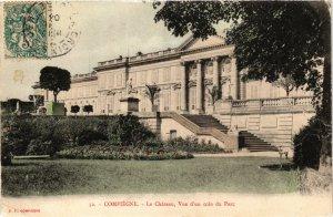 CPA Compiegne Le Chateau, Vue d'un coin du Parc FRANCE (1013951)