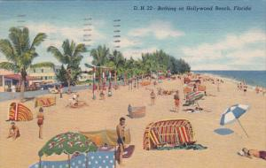Florida Hollywood Bathing At Hollywood Beach 1956