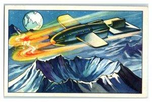 Landing a Spaceship on the Moon, Future Fantasies Echte Wagner German Trade Card