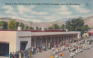 SANTA FE, NM, 1944; Palace of the Governors, & Our Lady of Victory Procession