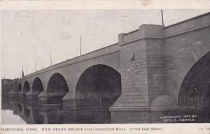 Connecticut Hartford New Stone Bridge Over Connecticut River 1908