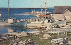 Canada Nova Scotia Cape Sable Lobster Boats