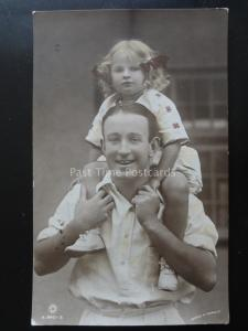 GLADYS COOPERS DAUGHTER & HUSBAND c1934 RP PC by Rotary A.840-3