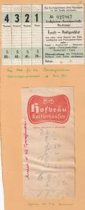 Grossglockner Hochalpenstrasse Fusch 1950s Toll & Lunch on Summit Receipt