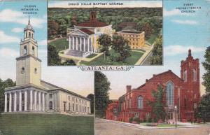 ATLANTA, Georgia, 1930-40s; Churches- Glenn Memorial, Druid Hills Baptist and Fi