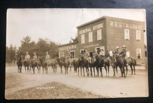 Mint Canada Real Picture Postcard RPPC Mounted Police Petawawa