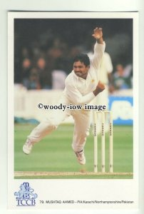 su2458 - International Cricketer - Pakistan - Mushtaq Ahmed - postcard
