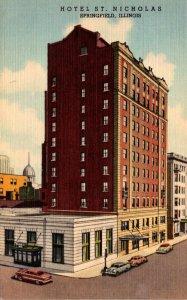 Illinois Springfield Hotel St Nicholas Curteich