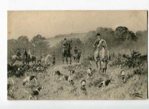 251254 HORSE Hunt POINTER by WRIGHT Vintage #397 VIENNE Munk