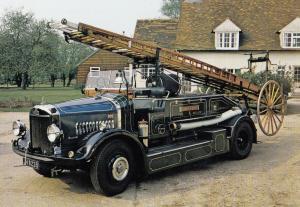 Dennis Braidwood 4 Pump Escape Big Hertfordshire Fire Engine Brigade Postcard