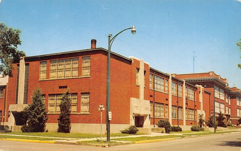 Peru Indiana~Old Peru High School~Art Deco Building~1960s Postcard ...