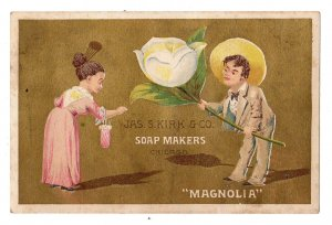 MAGNOLIA*FLOWER*KIRK & CO*SOAP MAKERS*CHICAGO*VICTORIAN TRADE CARD