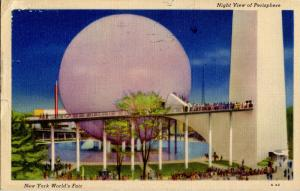 NY - 1939 New York World's Fair. Perisphere and Helicline at Theme Center at ...