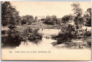 Strath Haven Inn and Falls, Swarthmore Pennsylvania UDB Vintage Postcard L08