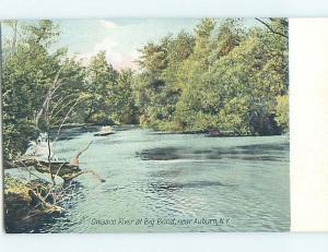 Divided-Back WATER SCENE Finger Lakes - Auburn New York NY hk3115