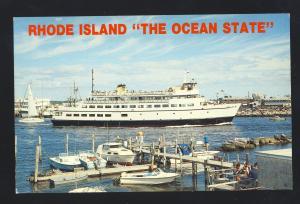 Galilee, Rhode Island/RI Postcard, M/V Carol Jean Ferryboat, George's Restaurant