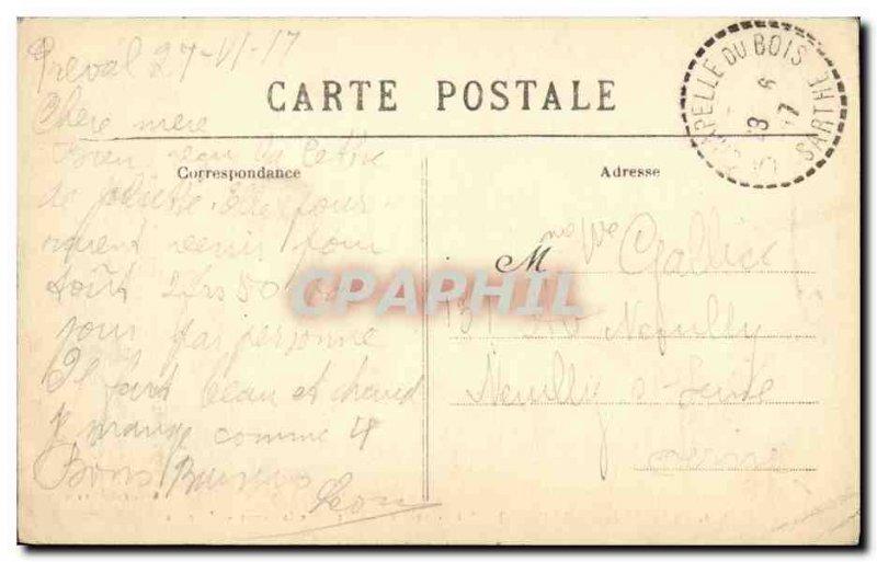 Old Postcard La Ferte Bernard Saint Anthoine Chateau de Monge The Avenue