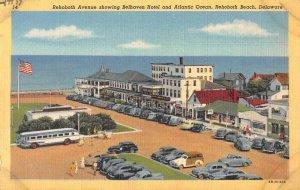 Rehoboth Beach Delaware Belhaven Hotel Birds Eye View Vintage Postcard AA29782