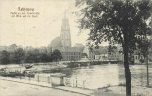 germany, RATHENOW, Partie an der Havelstrasse (1916)