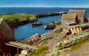 Canada - Nova Scotia, Blue Rocks. Fishing Scene